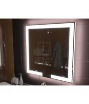 Зеркало с подсветкой для ванной комнаты Новара 40x40 см