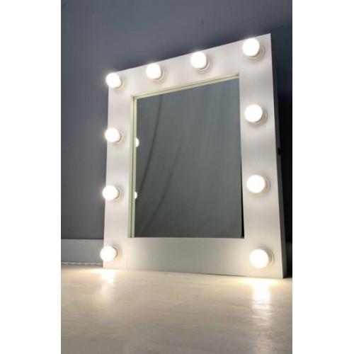 Гримерное зеркало с подсветкой из ламп 60х65 см