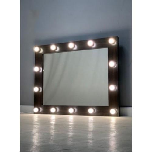 Гримерное зеркало с подсветкой лампочками 80х100 см