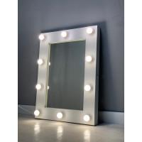 Гримерное зеркало 80х60 Белое с подсветкой по контуру