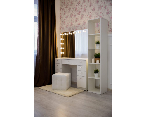 Туалетный столик  80х120 с зеркалом и подсветкой 80х120