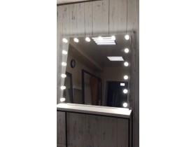"""Выполненная работа: безрамное зеркало 110х115 см с подсветкой буквой """"П"""" (г. Ижевск)"""