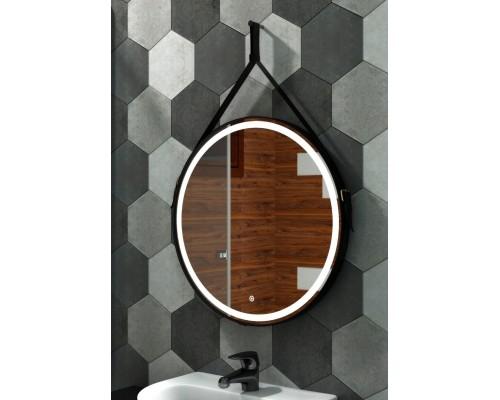 Зеркало с подсветкой для ванной комнаты Миллениум Блэк