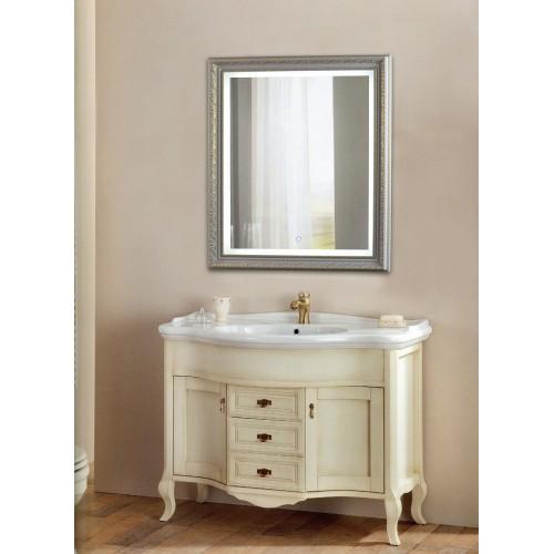 Зеркало в ванную комнату с подсветкой светодиодной лентой Серенити